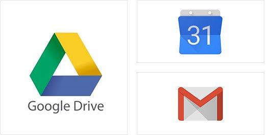 Integracija z Google Drive, Gmailom ...