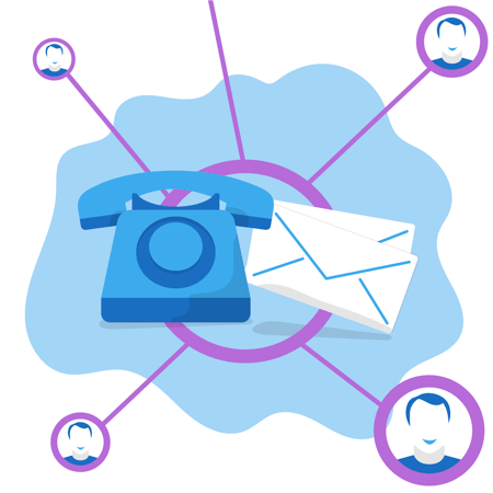 platformax email and call prospecting illustration